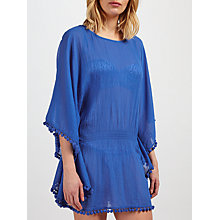 Buy John Lewis Pom Pom Trim Kaftan, Cobalt Online at johnlewis.com