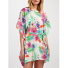 Buy John Lewis Talaia Tropical Kaftan, White/Multi Online at johnlewis.com