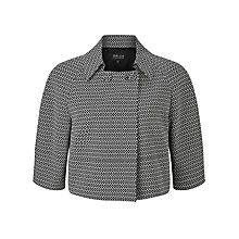Buy Bruce by Bruce Oldfield Mini Square Jacquard Jacket, Black/Ivory Online at johnlewis.com