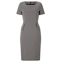Buy Bruce by Bruce Oldfield Mini Square Jacquard Dress, Black/Ivory Online at johnlewis.com