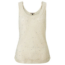 Buy Bruce by Bruce Oldfield Beaded Top, Cream Online at johnlewis.com