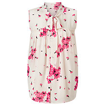 Buy Somerset by Alice Temperley Blossom Print Silk Blouse, Blush Online at johnlewis.com