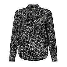 Buy Somerset by Alice Temperley Mini Floral Print Blouse, Black Online at johnlewis.com