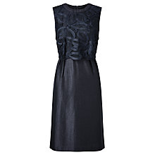 Buy Bruce by Bruce Oldfield Double Layer Ribbon Dress, Navy Online at johnlewis.com
