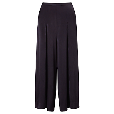 Bruce by Bruce Oldfield Hammered Satin Culottes, Navy