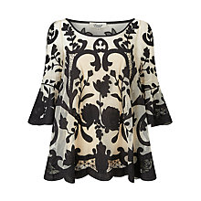 Buy Somerset by Alice Temperley Flared Embroidered Top Online at johnlewis.com