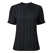 Buy Bruce by Bruce Oldfield Pleated Top, Navy Online at johnlewis.com