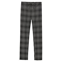 Buy Mango Check Trousers, Black Online at johnlewis.com