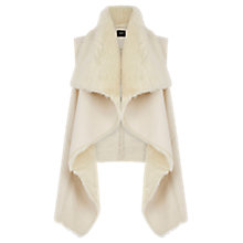 Buy Oasis Faux Shearling Gilet, Cream Online at johnlewis.com