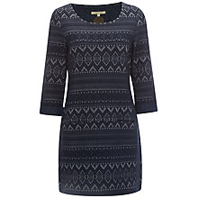 Buy White Stuff Cabin Holiday Jersey Tunic Dress, Navy Online at johnlewis.com