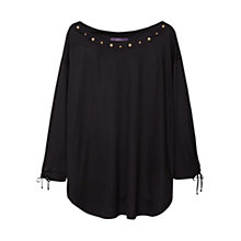 Buy Violeta by Mango Stud Detail Top Online at johnlewis.com