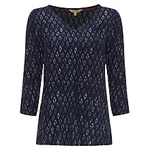 Buy White Stuff Ikat Top, Nep Blue Online at johnlewis.com