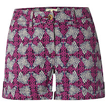 Buy White Stuff Casa Printed Shorts, Mexican Purple Online at johnlewis.com