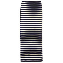 Buy White Stuff Lola Striped Maxi Skirt, Navy Online at johnlewis.com