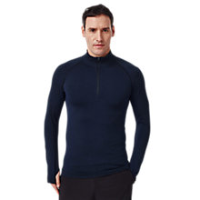 Buy Human Performance Engineering HPE Cross X Seamless 1/4 Zip Top, Navy Online at johnlewis.com