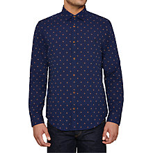 Buy Original Penguin Dobby Shirt, Navy Online at johnlewis.com