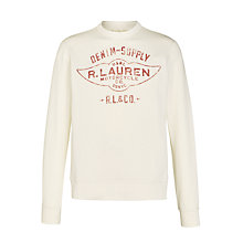 Buy Denim & Supply Ralph Lauren Crew Neck Long Sleeve Top, Antique Cream Online at johnlewis.com