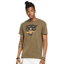 Buy Denim & Supply Ralph Lauren Graphic Print Jersey T-Shirt, Trail Mix Online at johnlewis.com