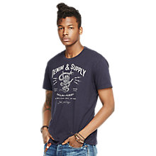 Buy Denim & Supply Ralph Lauren Graphic Print T- Shirt, Classic Navy Online at johnlewis.com