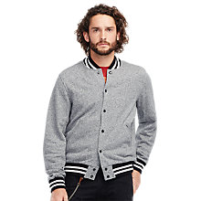 Buy Denim & Supply Ralph Lauren Varsity Jacket, Black/White Online at johnlewis.com