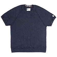 Buy Champion + Todd Snyder Raglan Crew Neck Short Sleeve Sweatshirt, Original Navy Online at johnlewis.com