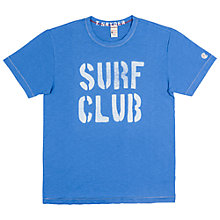 Buy Champion + Todd Snyder Surf Club Print T-Shirt, Washed Royal Online at johnlewis.com