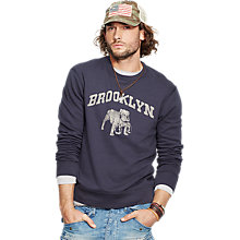 Buy Denim & Supply Ralph Lauren Graphic Sweatshirt, Classic Navy Online at johnlewis.com