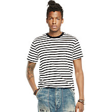 Buy Denim & Supply Ralph Lauren Stripe T-Shirt, Leon Stripe Online at johnlewis.com