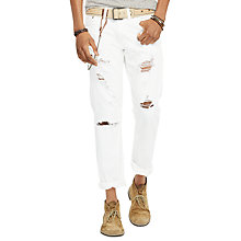 Buy Denim & Supply Ralph Lauren Shredded Slim Fit Jeans, Coolidge Shredd Online at johnlewis.com