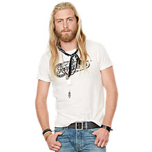 Buy Denim & Supply Ralph Lauren Graphic Print T-Shirt, Antique Cream Online at johnlewis.com