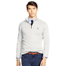 Buy Polo Ralph Lauren Zip Through Jersey Top Online at johnlewis.com