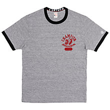 Buy Champion + Todd Snyder Indian Head Print T-Shirt, Grey Heather/Black Online at johnlewis.com