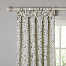 Buy John Lewis Berry Lined Pencil Pleat Curtains, Duck Egg Online at johnlewis.com