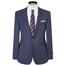 Buy John Lewis Woven in Italy Half Canvas Hairline Stripe Tailored Suit Jacket, Royal Blue Online at johnlewis.com