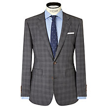 Buy John Lewis Woven in Italy Half Canvas Check Tailored Suit Jacket, Grey Online at johnlewis.com