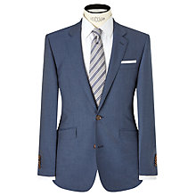 Buy John Lewis Woven in Italy Half Canvas Wool Jaspe Tailored Suit Jacket, Airforce Blue Online at johnlewis.com
