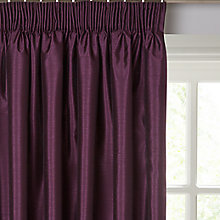 Buy John Lewis Faux Silk Blackout Lined Pencil Pleat Curtains Online at johnlewis.com