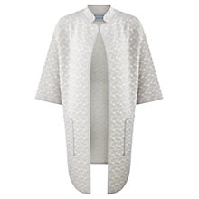 Buy Jigsaw Oval Geo Jacquard Coat, Chalk Online at johnlewis.com
