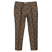 Buy Mango Jacquard Suit Trousers, Black/Multi Online at johnlewis.com