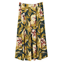 Buy Mango Floral Midi Skirt, Green Online at johnlewis.com