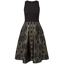 Buy Ted Baker Flamie Jacquard Ballerina Dress, Black Online at johnlewis.com