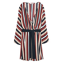 Buy Mango Striped Cross Front Dress, Red/Multi Online at johnlewis.com