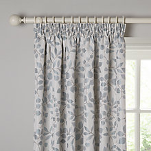 Buy John Lewis Ivy Leaf Lined Pencil Pleat Curtains, Duck Egg Online at johnlewis.com