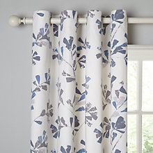Buy John Lewis Thalia Lined Eyelet Curtains, Blue Online at johnlewis.com