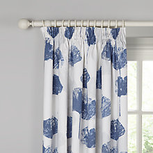 Buy John Lewis Waterlily Blackout Lined Pencil Pleat Curtains, Blue Online at johnlewis.com