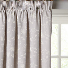 Buy John Lewis Croft Collection Freya Lined Pencil Pleat Curtains, Grey Online at johnlewis.com