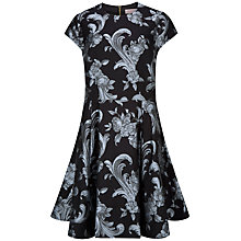 Buy Ted Baker Danetia Acanthus Scroll Print Skater Dress, Black Online at johnlewis.com