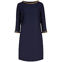 Buy Ted Baker Hadim Chain Embellished Tunic Dress, Dark Blue Online at johnlewis.com