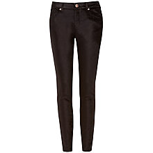 Buy Ted Baker Velveta Velvet Skinny Jeans, Black Online at johnlewis.com