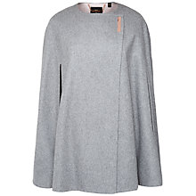 Buy Ted Baker Vireti Metal Clasp Cape, Charcoal Online at johnlewis.com